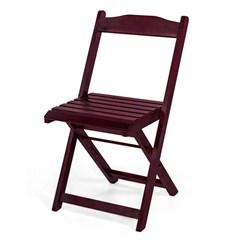 Jogo De Mesa Dobrável 70X70cm Com 4 Cadeiras Madeira Maciça Imbuia
