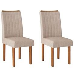 Kit Com 2 Cadeiras Celina Rust Terrara Linho