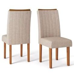 Kit Com 2 Cadeiras Celina Rust Terrara/Linho C