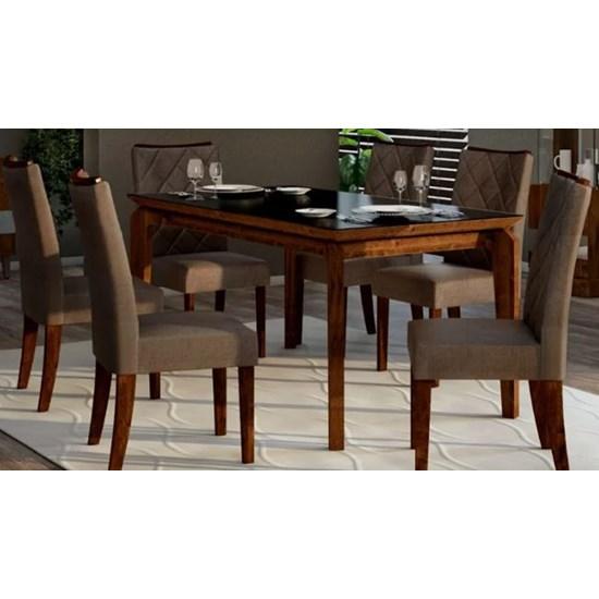 Kit Com 2 Cadeiras Golden Rust Malbec/Linho Br
