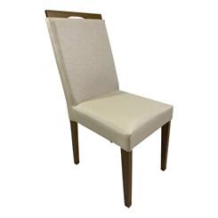 Kit Com Duas Cadeiras Lemnos Com Tecido Facto Bege