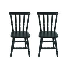 Kit Com Duas Cadeiras Torneada Tebas Tabaco