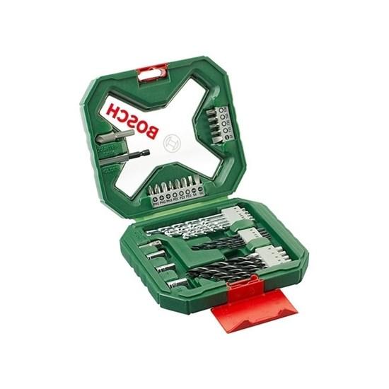 Kit De Brocas Bosch Set X Line 34 Peças Verde