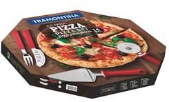 Kit Para Pizza 14 Peças Preto