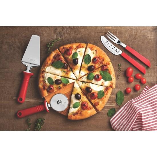 Kit Para Pizza 14 Peças Vermelho