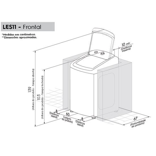 Lavadora De Roupas 11Kg Les11 Electrolux Branco