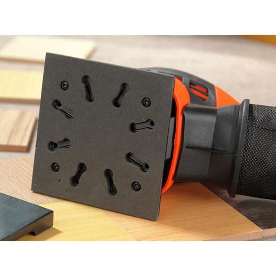 Lixadeira Orb 220W Com Coletor Qs800-B2 Preto/Laranja