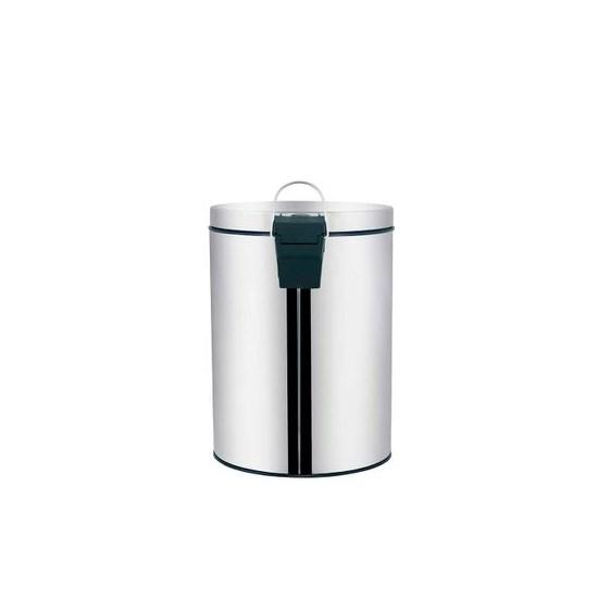 Lixeira 5 Litros Inox Linha Agata Prata