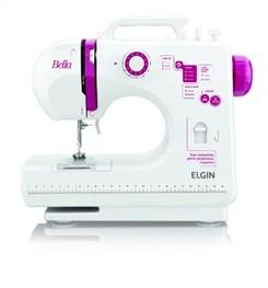 Máquina De Costura Bella Bl-1200 Portáti Branco Lilas
