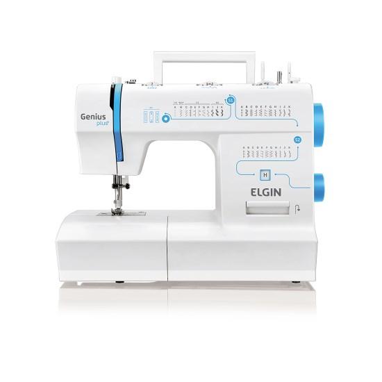 Maquina De Costura Jx-4035 Genius Plus Branco Azul