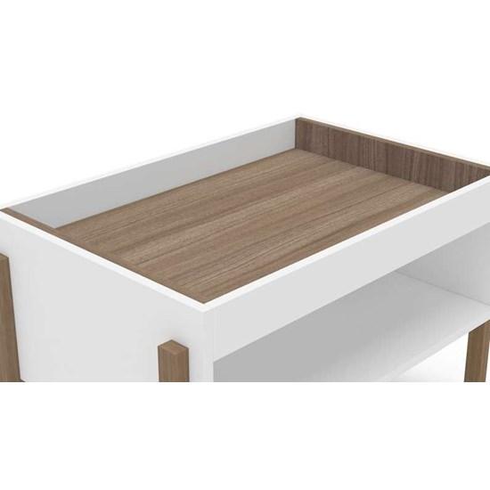 Mesa De Centro Dyna Branco/Castanho