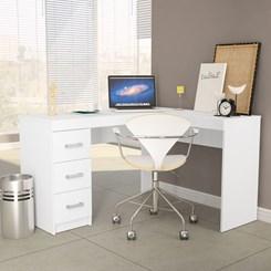 Mesa Escritório Fênix 3 Gavetas Branco