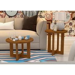 Mesa Lateral Luxo  Jb 8002 Caramelo Madeirado