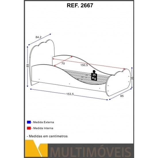 Minicama Nuvem Premium Mdf Rosa Premium