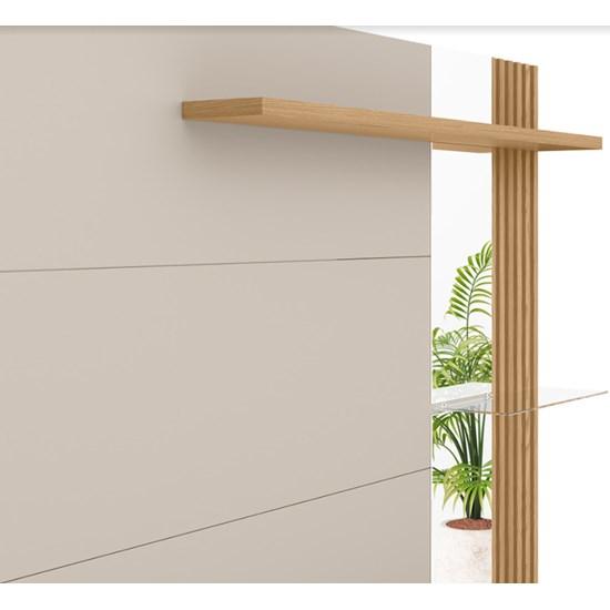 Painel Home Maragogi 182Cm Linea Brasil Carvalho/Off White