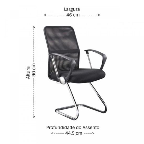 Par De Cadeiras Visitante Confort