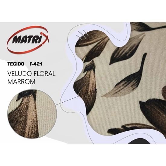Poltrona Glória Matrix Marrom Floral 421255