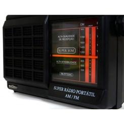 Rádio Portátil 2 Faixas Pft22ac Motobras Preto