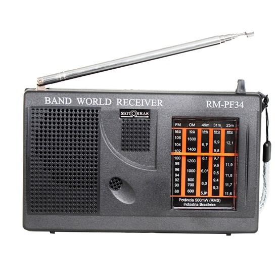 Rádio Portátil 5 Fxs Rmpf34 Preto