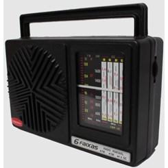 Rádio Portátil 6 Faixas Preto