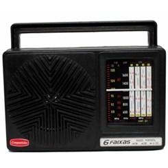 Rádio Portátil 6Faixas Crp61 Companheiro Preto