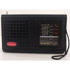 Rádio Portátil 7 Faixas  Preto