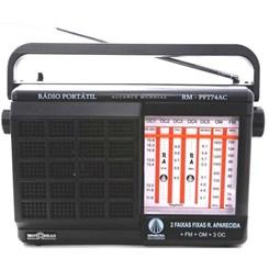Rádio Portátil Aparecida 7 Faixas  Preto