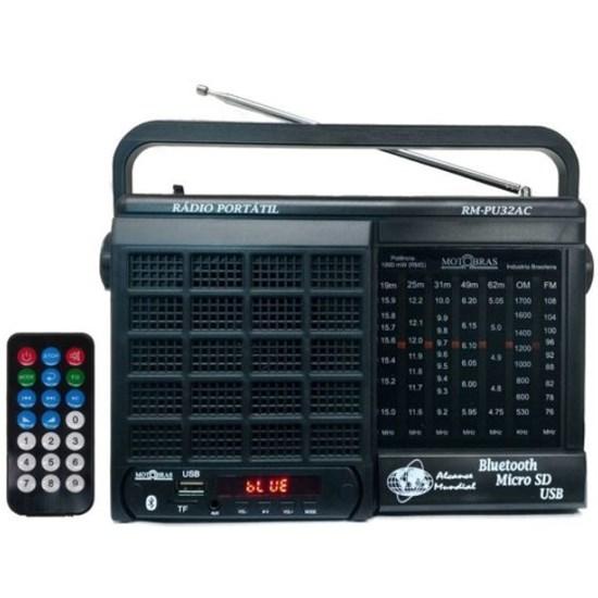 Radio Portatil Usb-Sd Rm-Pu32ac Preto