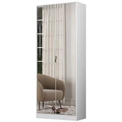 Sapateira 2 Portas 1 Gaveta Com Espelho Branco