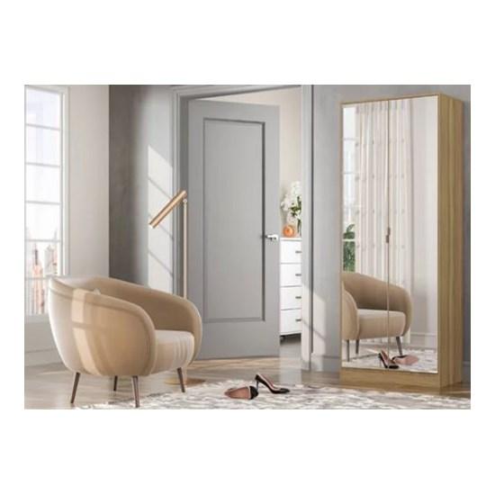 Sapateira Grife 2 Portas Com Espelho Amêndola