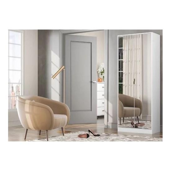 Sapateira Grife 2 Portas Com Espelho Branco