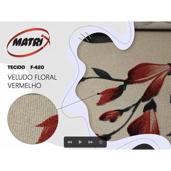 Sofá Cama Dinorá Matrix Vermelho Flo 420/258