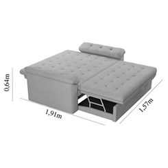 Sofa Cama Roxane Bege F439