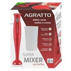 Super Mixer Com Copo 200W Agratto Vermelho