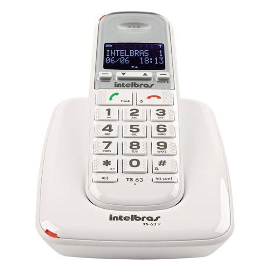 Telefone Sem Fio Ts 63 V Intelbras Branco