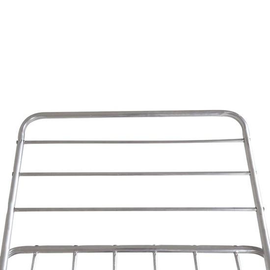 Varal De Chão Com Abas Alumínio 15Kg Mor Prata