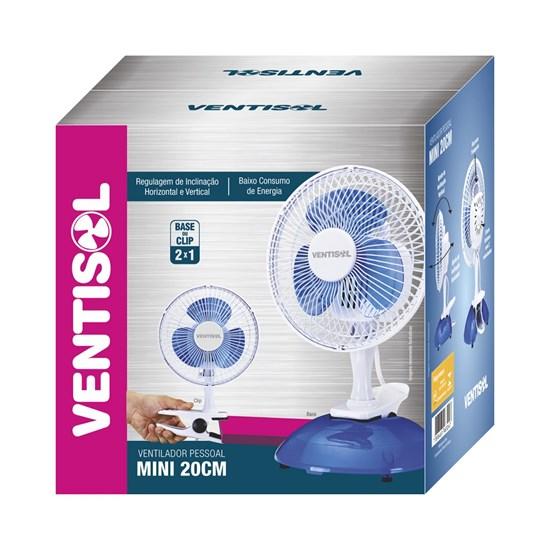 Ventilador Mesa 20Cm Mini Premium Branco