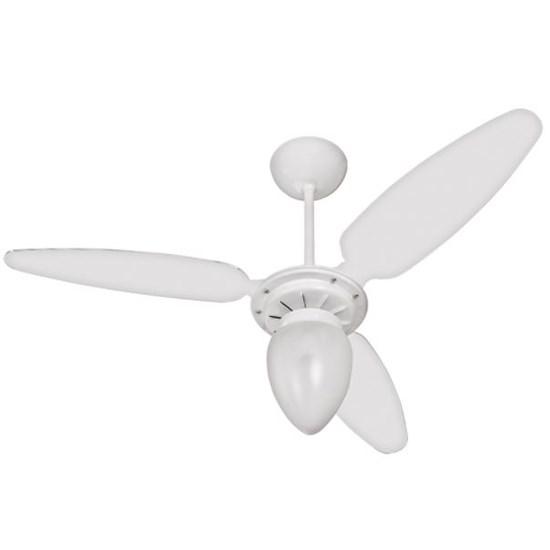 Ventilador Teto Wind Com Lustre Ventisol Branco