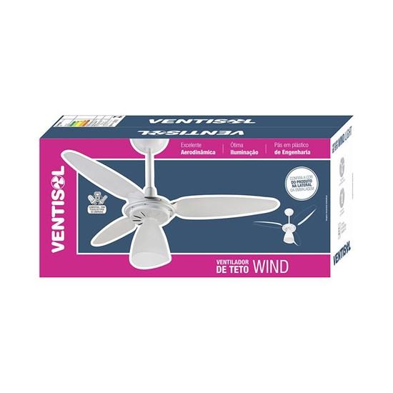 Ventilador Teto Wind Light Ventisol Branco